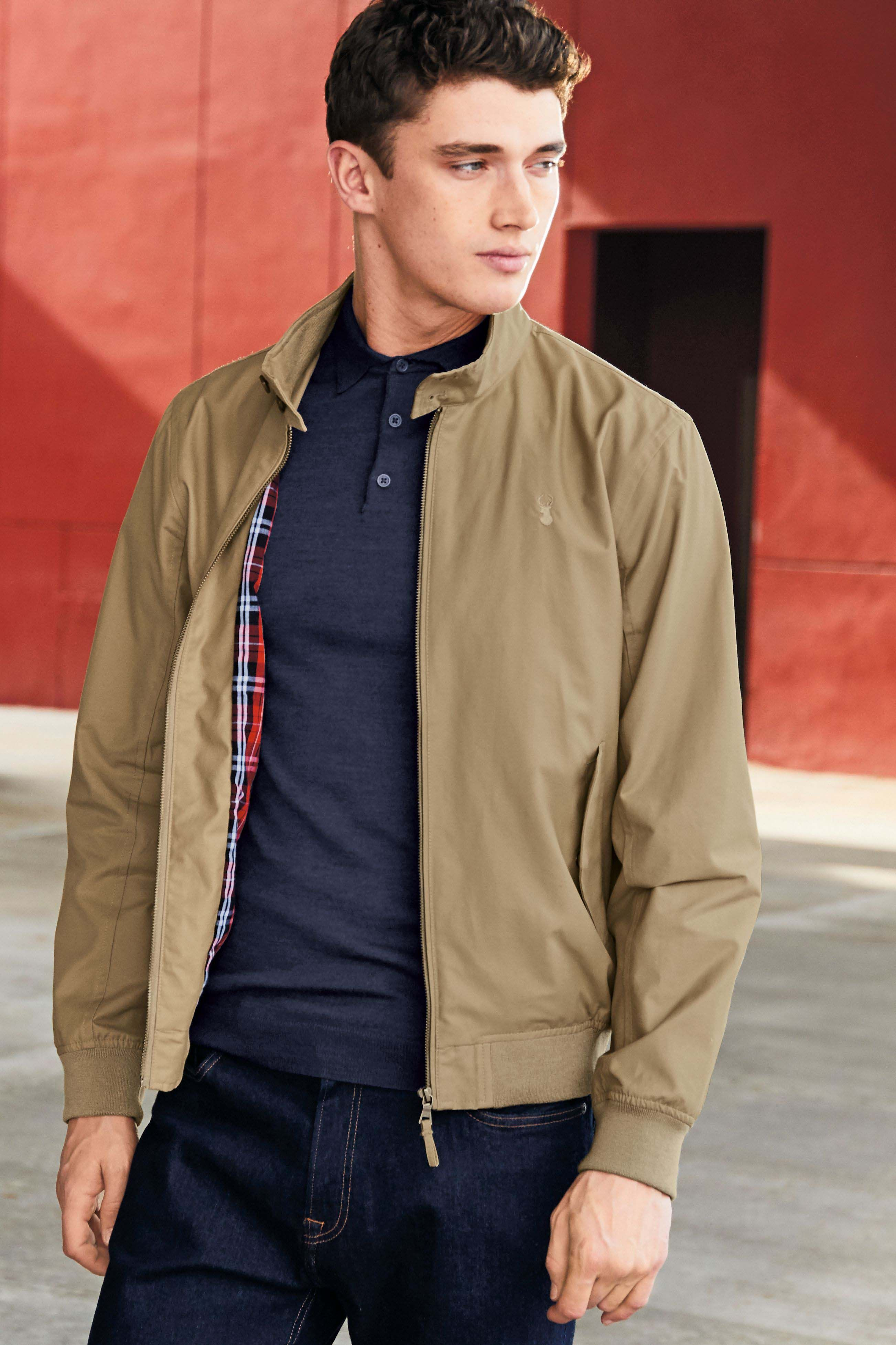 1cf18bbe490 Mens Next Stone Stag Harrington Jacket - Natural | Harrington in ...