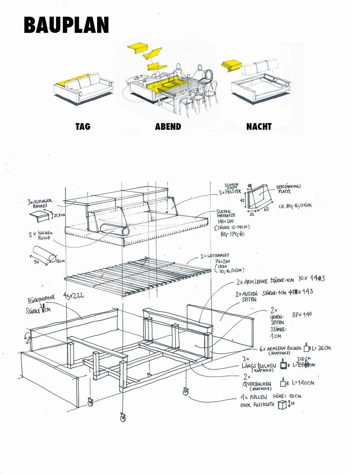 bettsofa-bauplan.jpg] | мебель | Pinterest | DIY furniture ...