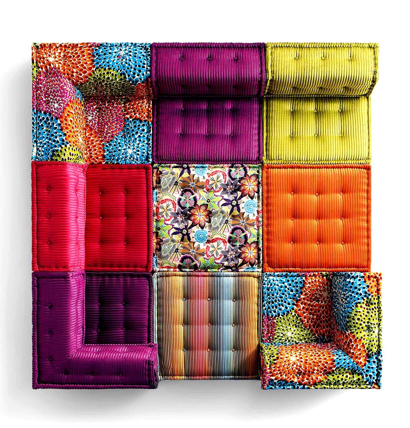 Furniture Astounding Roche Bobois Mah Jong Sofa Jean Paul Gaultier