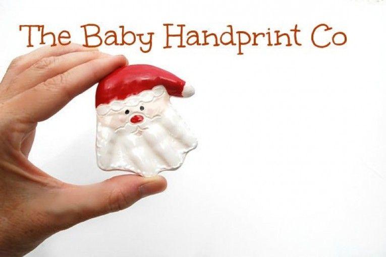 Salt Dough Santa Hand Ornament Recipe DIY  Santa ornaments Santa