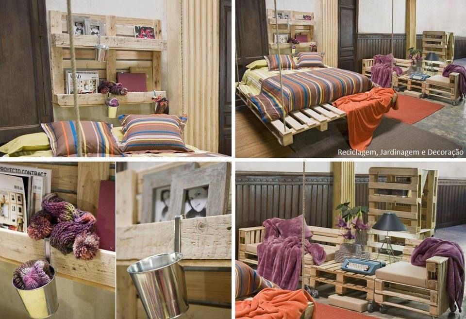 h ngebett sitzgruppe und wandregal aus europaletten europalette pinterest pallets. Black Bedroom Furniture Sets. Home Design Ideas