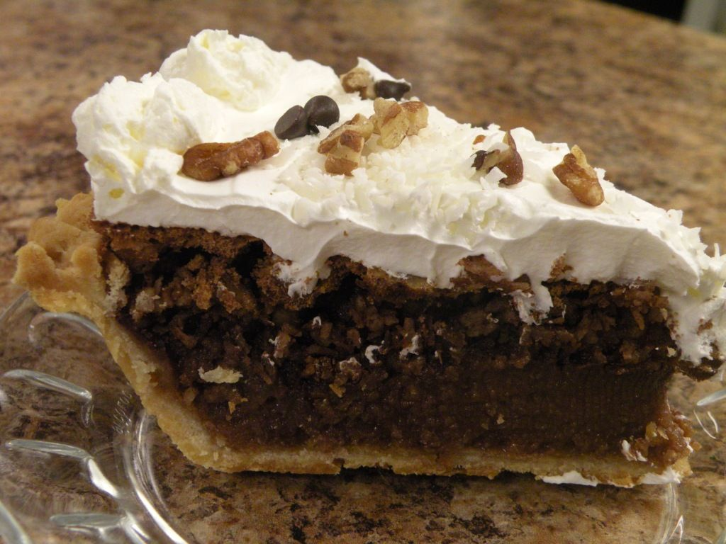 German Chocolate Cake Recipe | GERMAN CHOCOLATE PIE SLICE | Pies ...