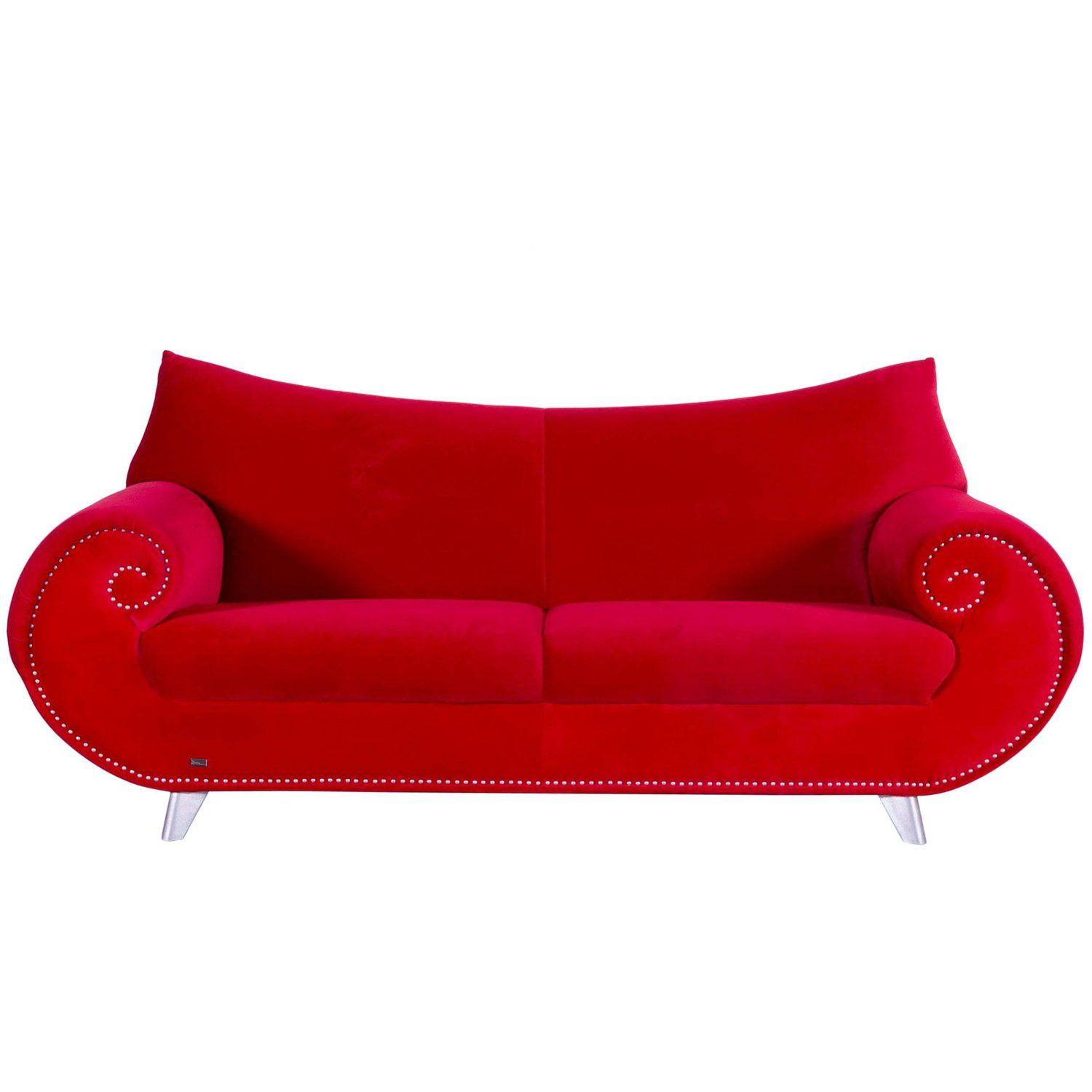 Bretz Gaudi Fabric Sofa Red Two Seat Couch Red Sofa Fabric Sofa Couch