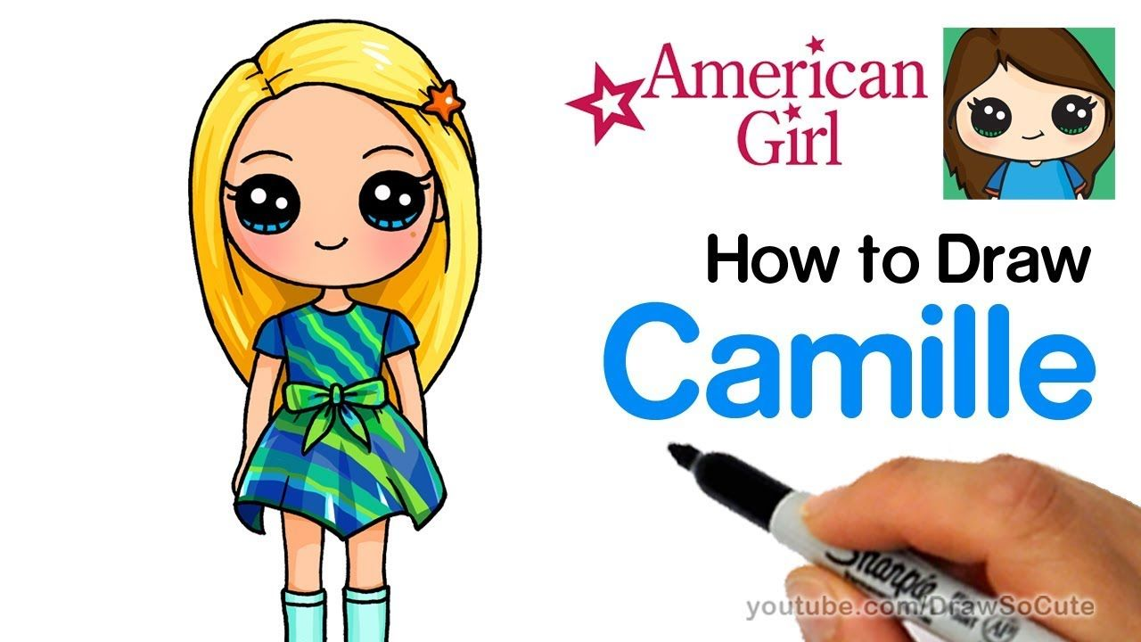 How To Draw Camille Easy American Girl Doll Welliewishers