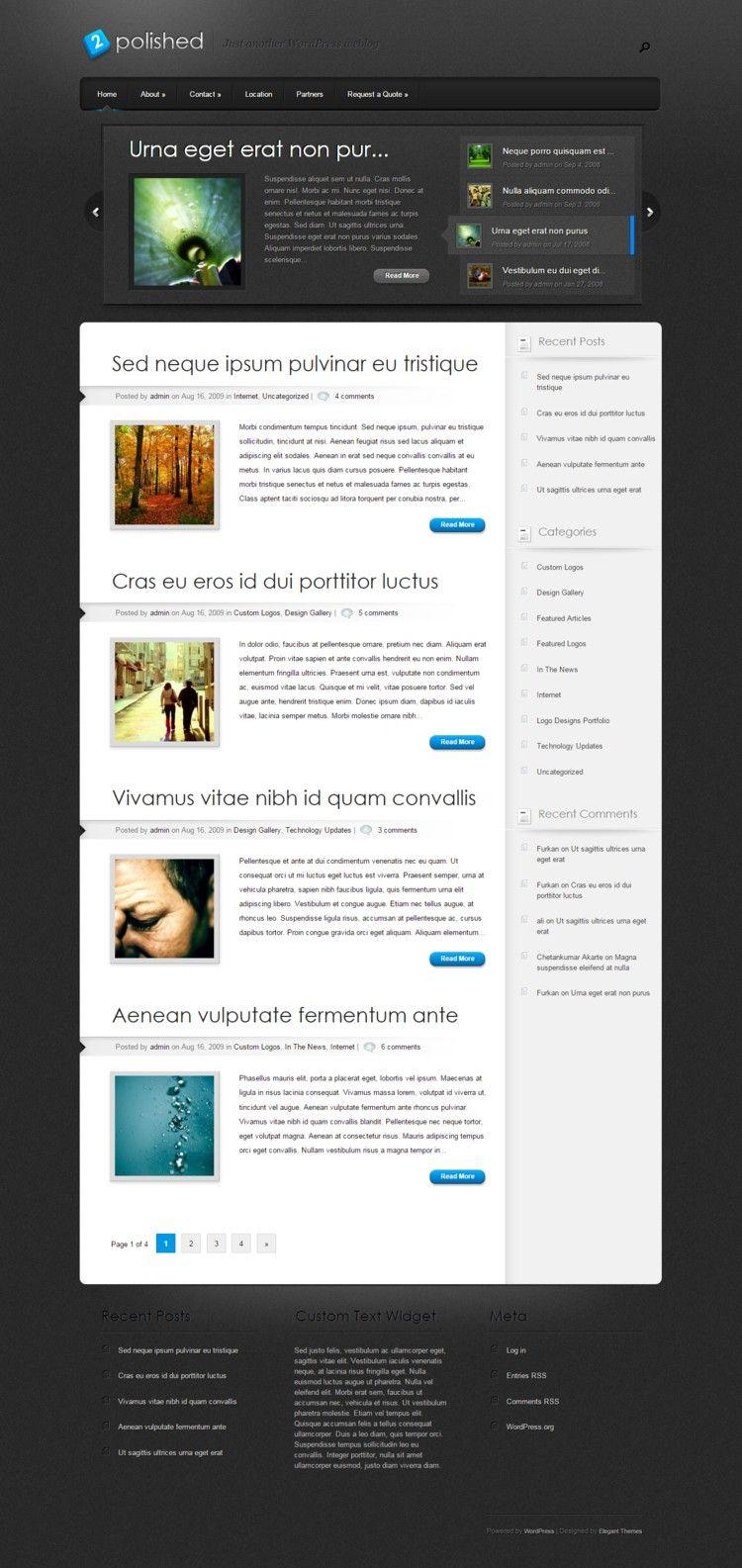 Polished #WordPress #Theme  #WPTheme #WebDesign | #WPThemeHouse