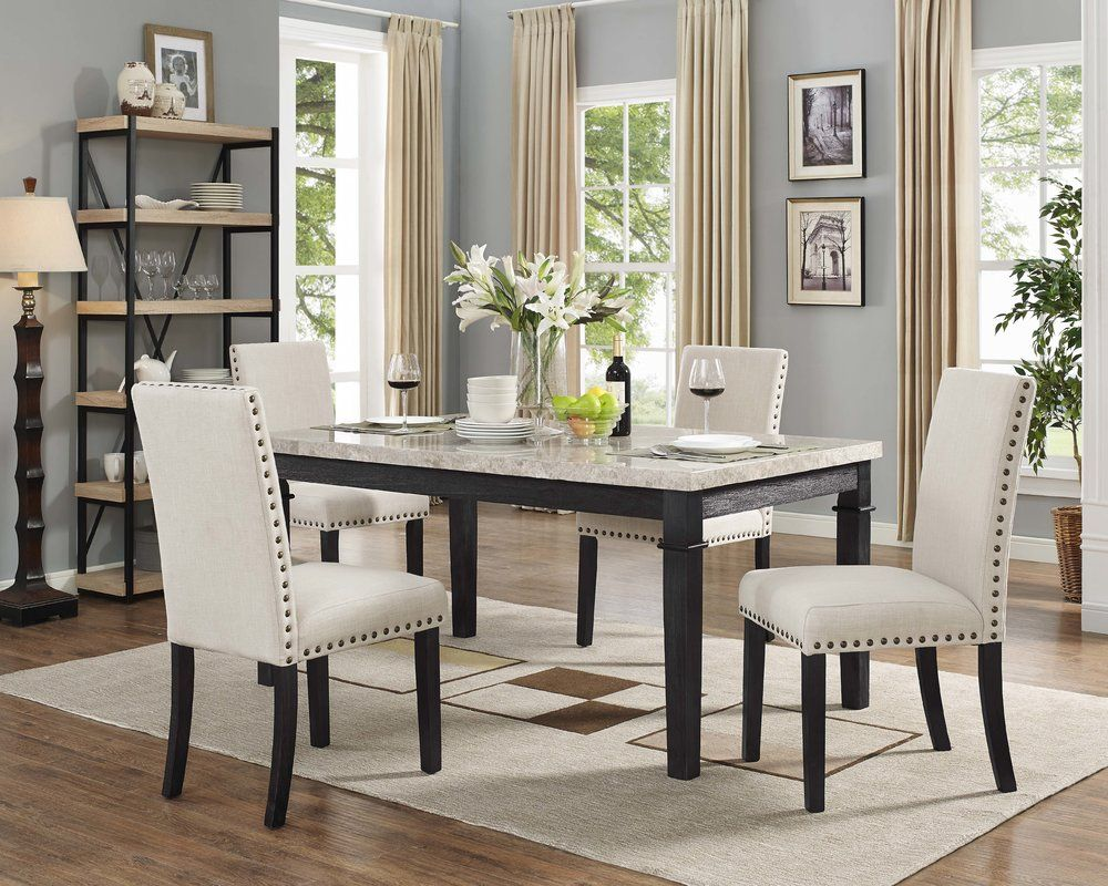 Ferron 5 Piece Dining Set 819 99 Dining Room Sets Upholstered