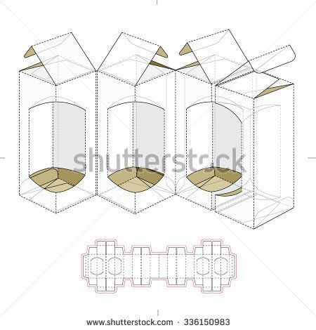 Custom Multiple Parts Box With Die Cut Template  Boxes