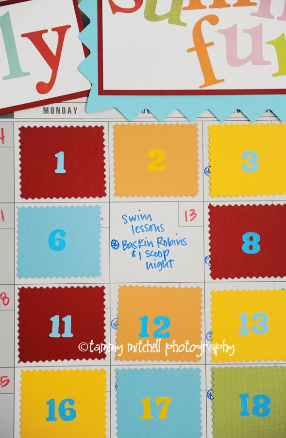 Summer Fun Advent Calendar: hide the activity for anticipation and surprise!