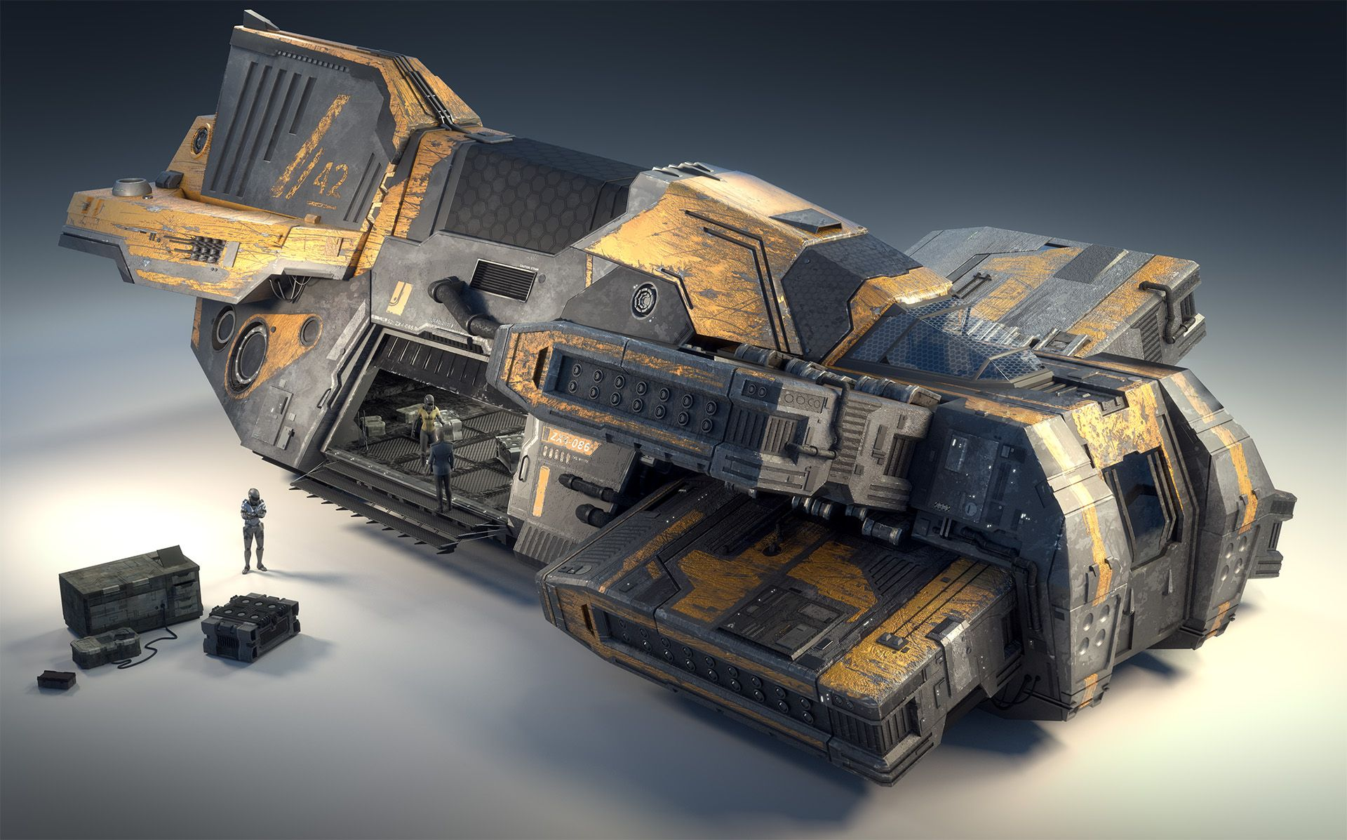 Taiidan Destroyer by Mike Luard SciFi 3D CGSociety