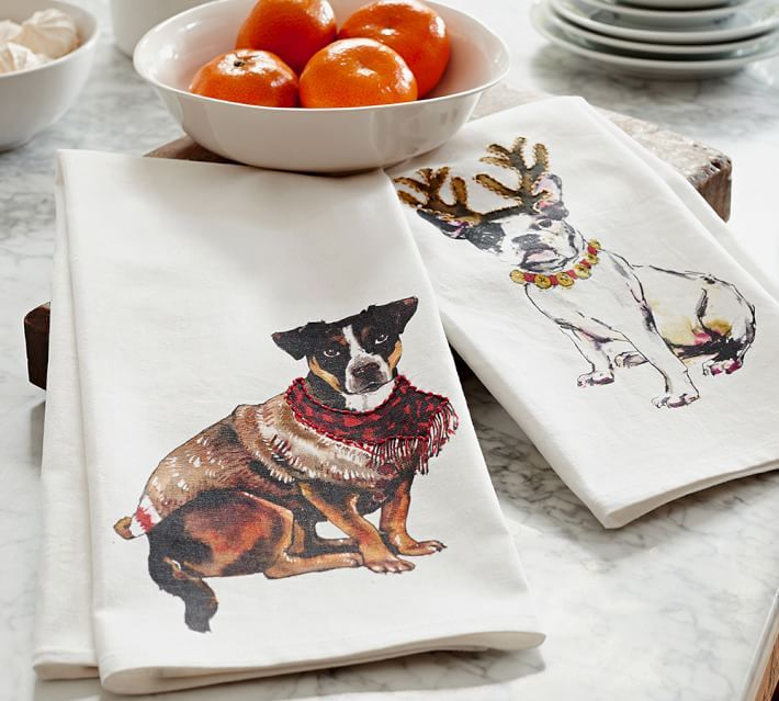Dog Print Kitchen Towel Natal