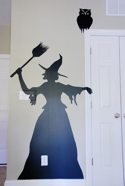 Witch silhouette - contact paper wall decoration - site includes ...