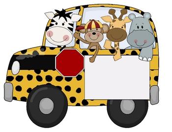 Safari Theme Buses Cartoon Animals Cartoon Jungle Animals Bus Cartoon
