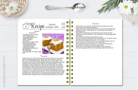 create your own cookbook with editable recipe pages just download