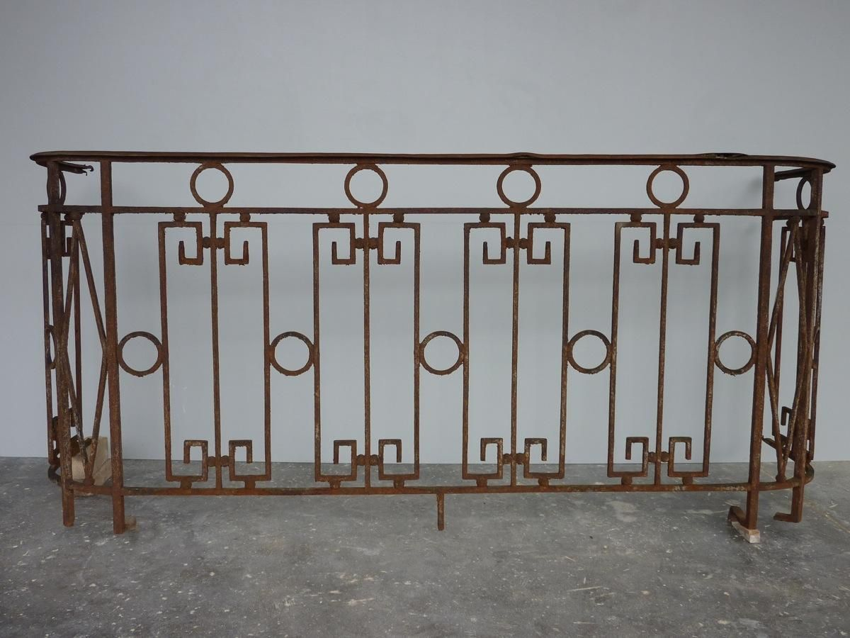 Balcon garde corps ancien fer forge louis xvi 730 pf 1 for Deco escalier ancien