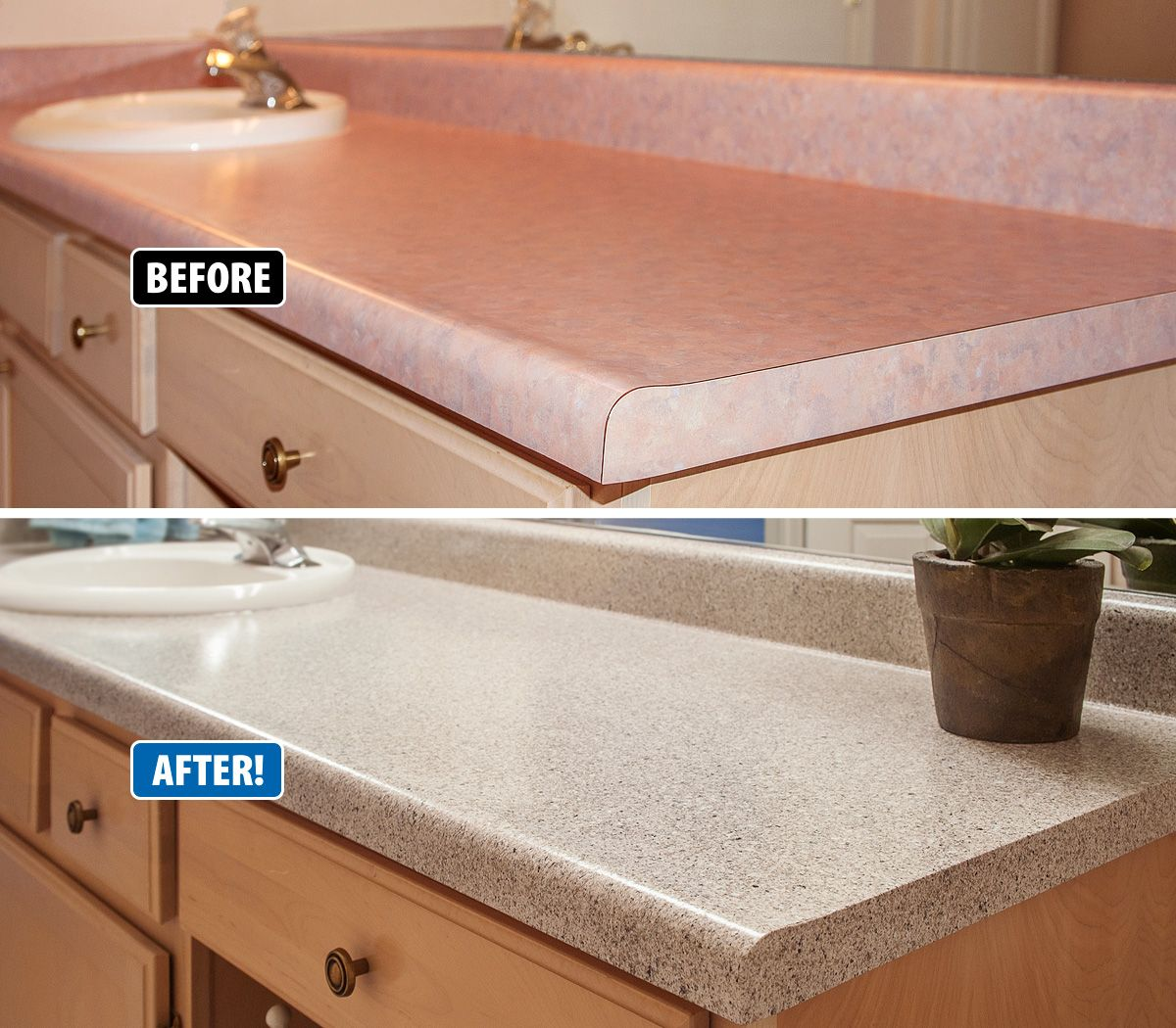 Outdated countertops and vanities don\'t have to be torn out and ...