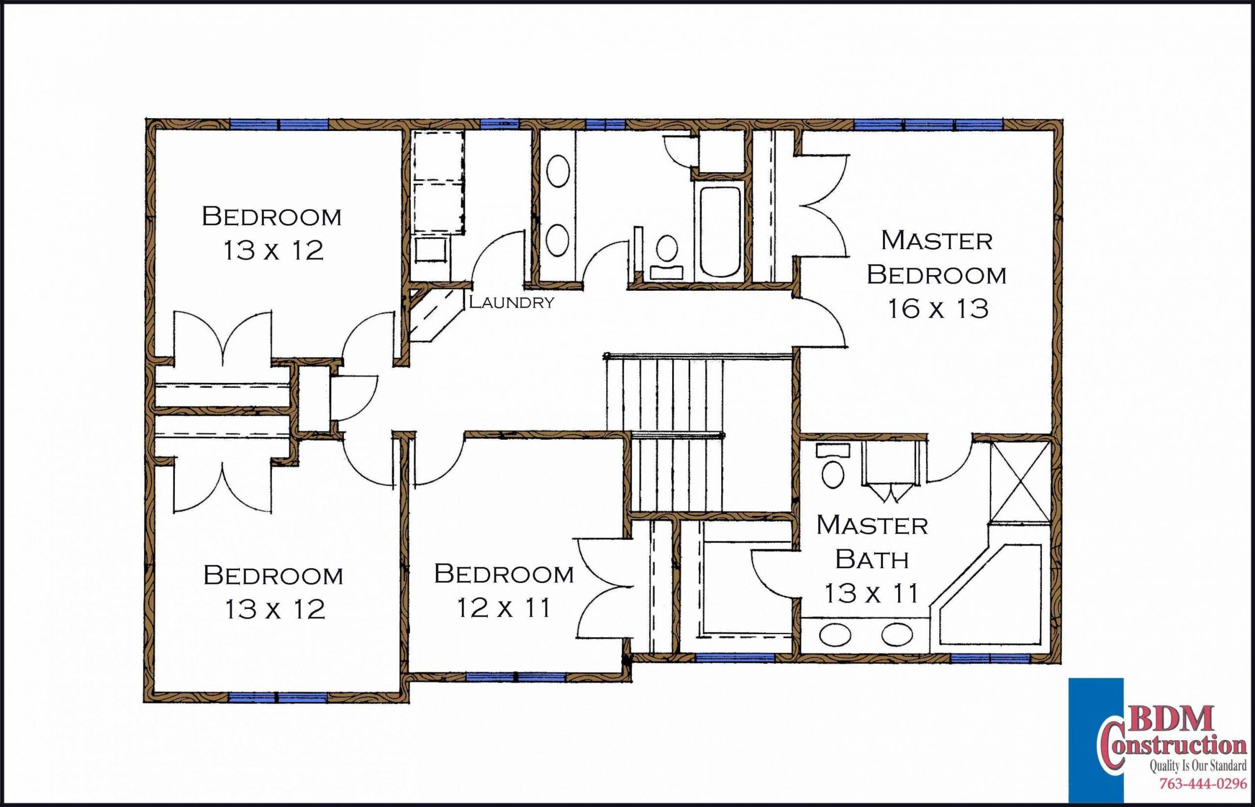 Bedroom Floor Plan With Walk In Closet