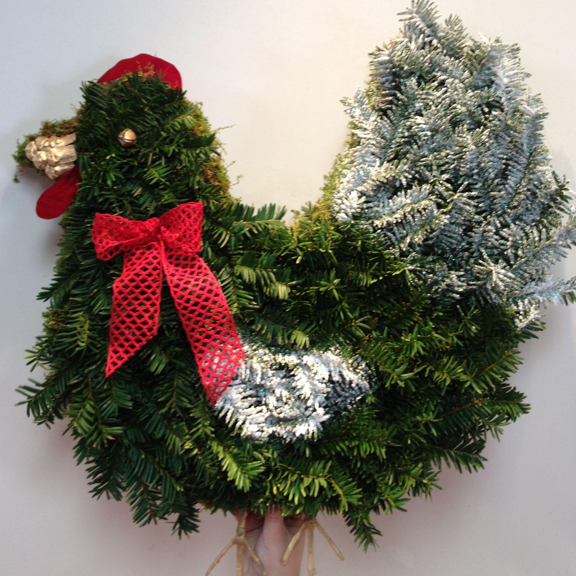 Christmas Door Frame Decorations: Chicken Christmas Door Decoration. Who Needs A Wreath