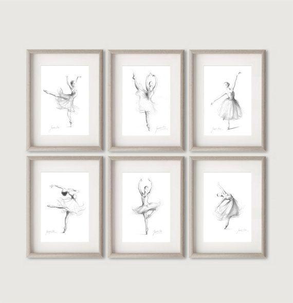 Set 6 Tanz der Ballerina Drucke 6 Ballerina Drucke von EwArtStudio