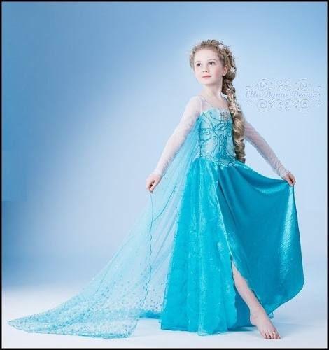 Hermoso Vestido Frozen Elsa Niñas Vestido De Elsa Frozen