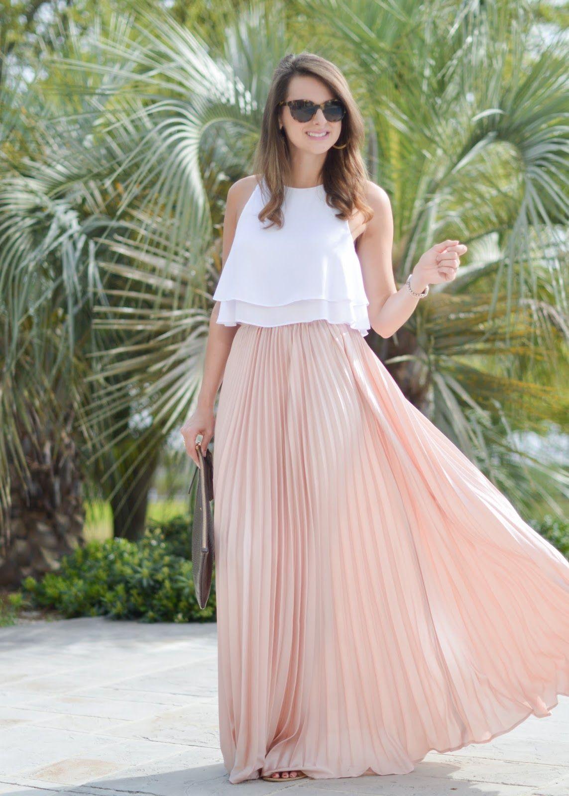 Perfect Pleats Maxi Skirt Crop Top Maxi Skirt Style Crop Top Skirt