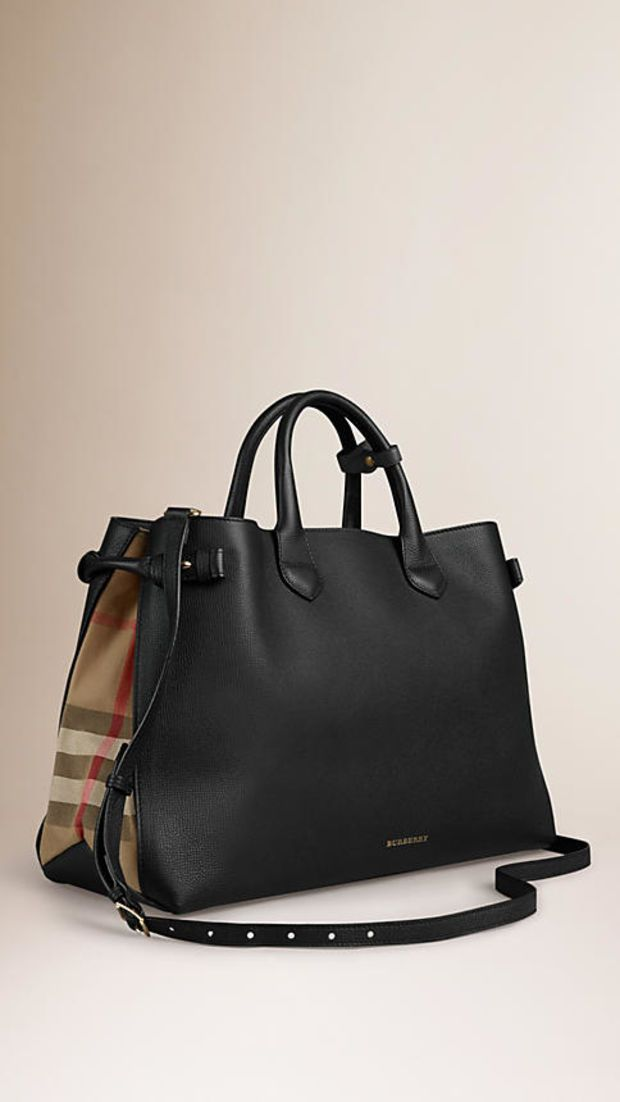 1ef41d05046c9 The Large Banner in Leather and House Check Schöne Taschen