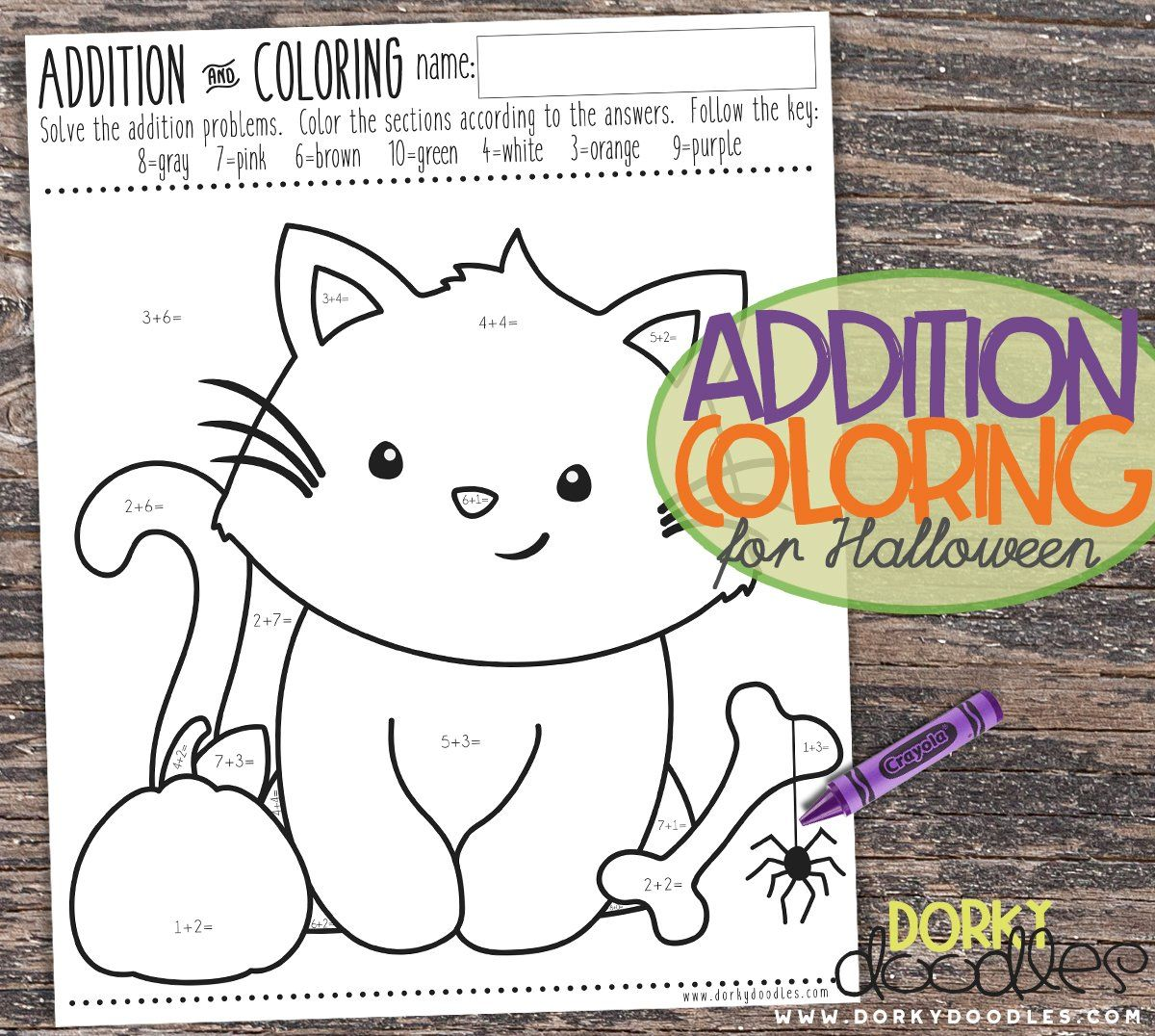 halloween math coloring page | Educational fun | Pinterest ...