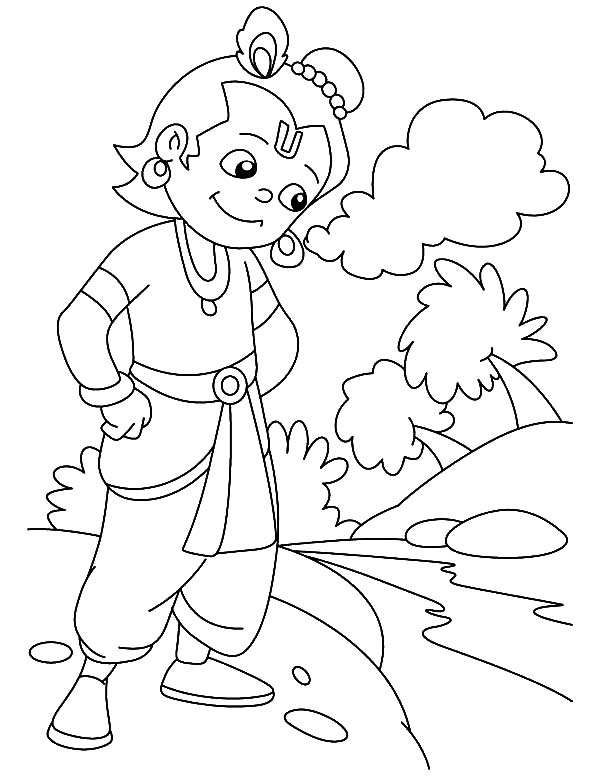 Krishna Prepare To Jump In The River Coloring Pages Download Print Online Coloring Pages For Free Co In 2021 Coloring Pages Online Coloring Pages Online Coloring