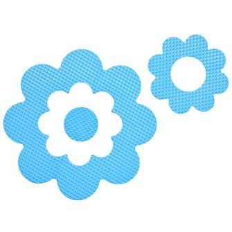 Sealskin badbloemen antislip blauw - 7 stuks | Bad- & toiletmatten ...