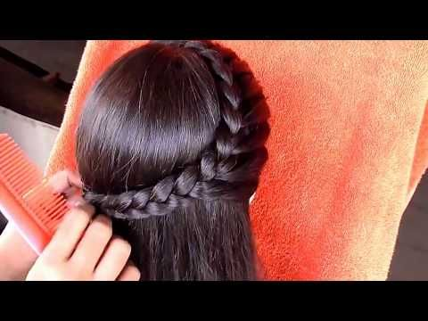 Hairstyle For Medium Hair Medium Hair Hairstyle For Girls Youtube Medium Hair Styles Hair Style Vedio Ponytail Hairstyles Easy