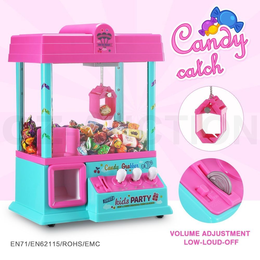 Details About Mini Toy Claw Machine Arcade Game Candy Catch
