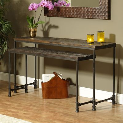 Saal 2 Piece Nesting Console Table Set | Rustic feel, Console tables ...