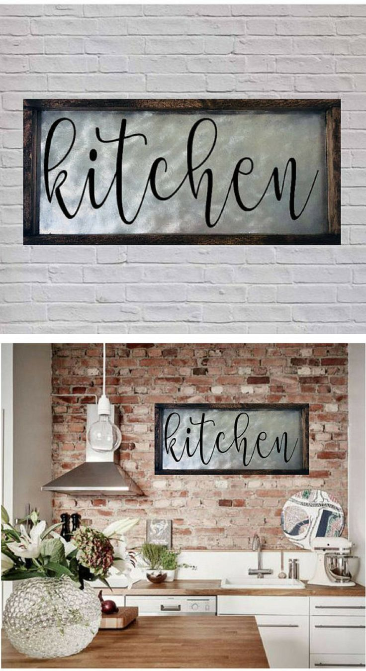 Kitchen Sign, Farmhouse Kitchen Sign, Farmhouse Signs, Metal Kitchen Sign,  Farmhouse Kitchen Wall Decor, Rustic Kitchen Sign, Kitchen Art #kitchen U2026