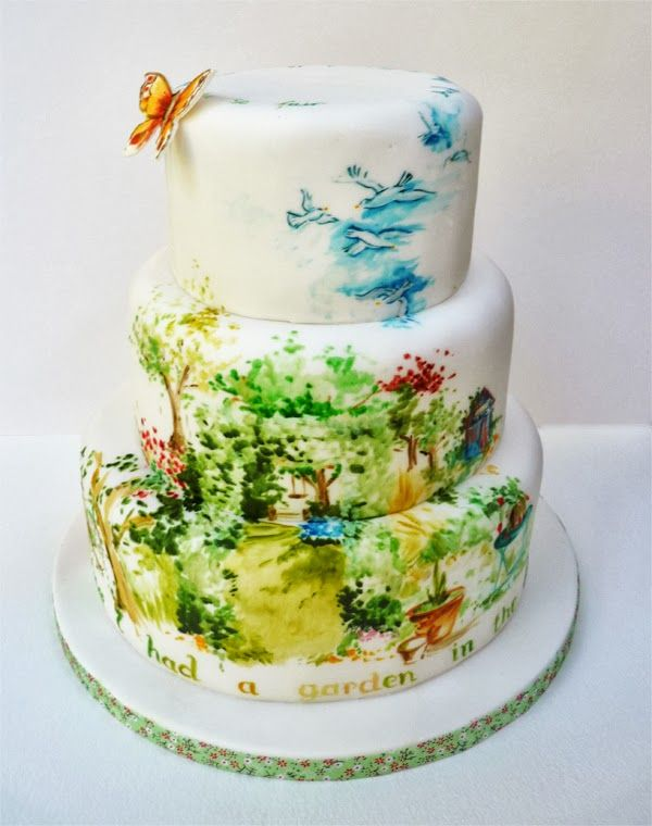 Oh to paint like thisbeautiful Cakes Pinterest Special