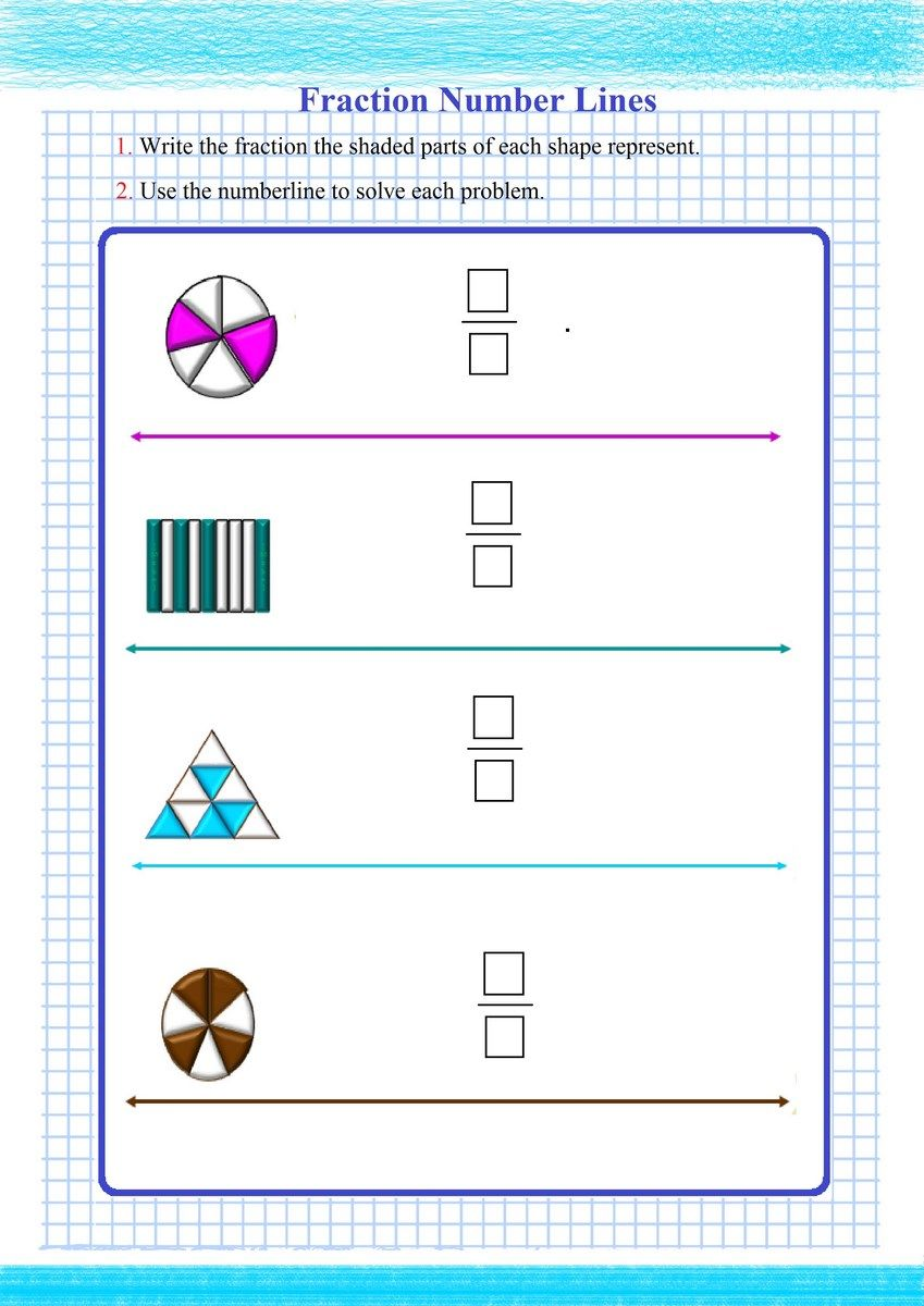 Fraction write up Math worksheets, Fractions worksheets