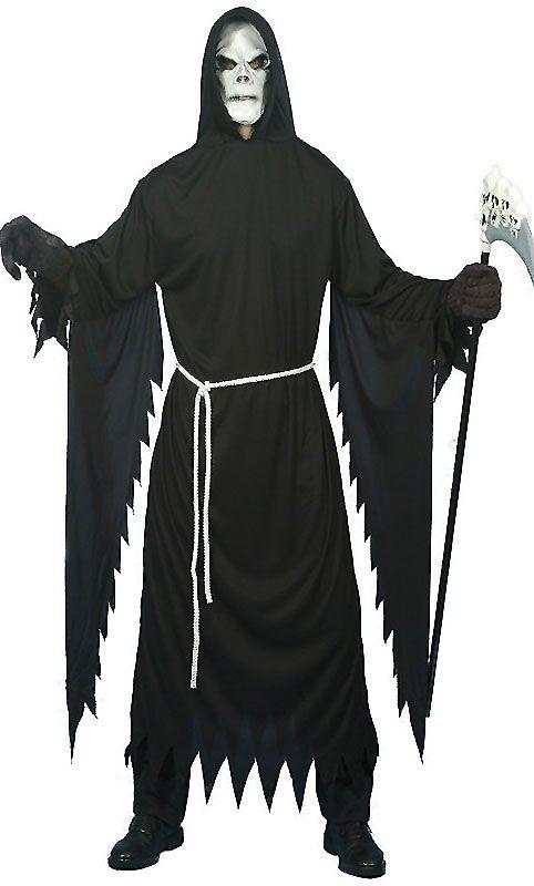 HALLOWEEN Fancy Dress Costume Grim Reaper Costume with Mask