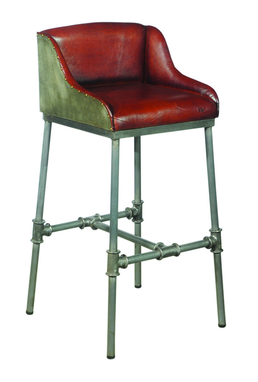 Groovy Brandon Industrial Leather Barstool Ds P006044 In 2019 Unemploymentrelief Wooden Chair Designs For Living Room Unemploymentrelieforg