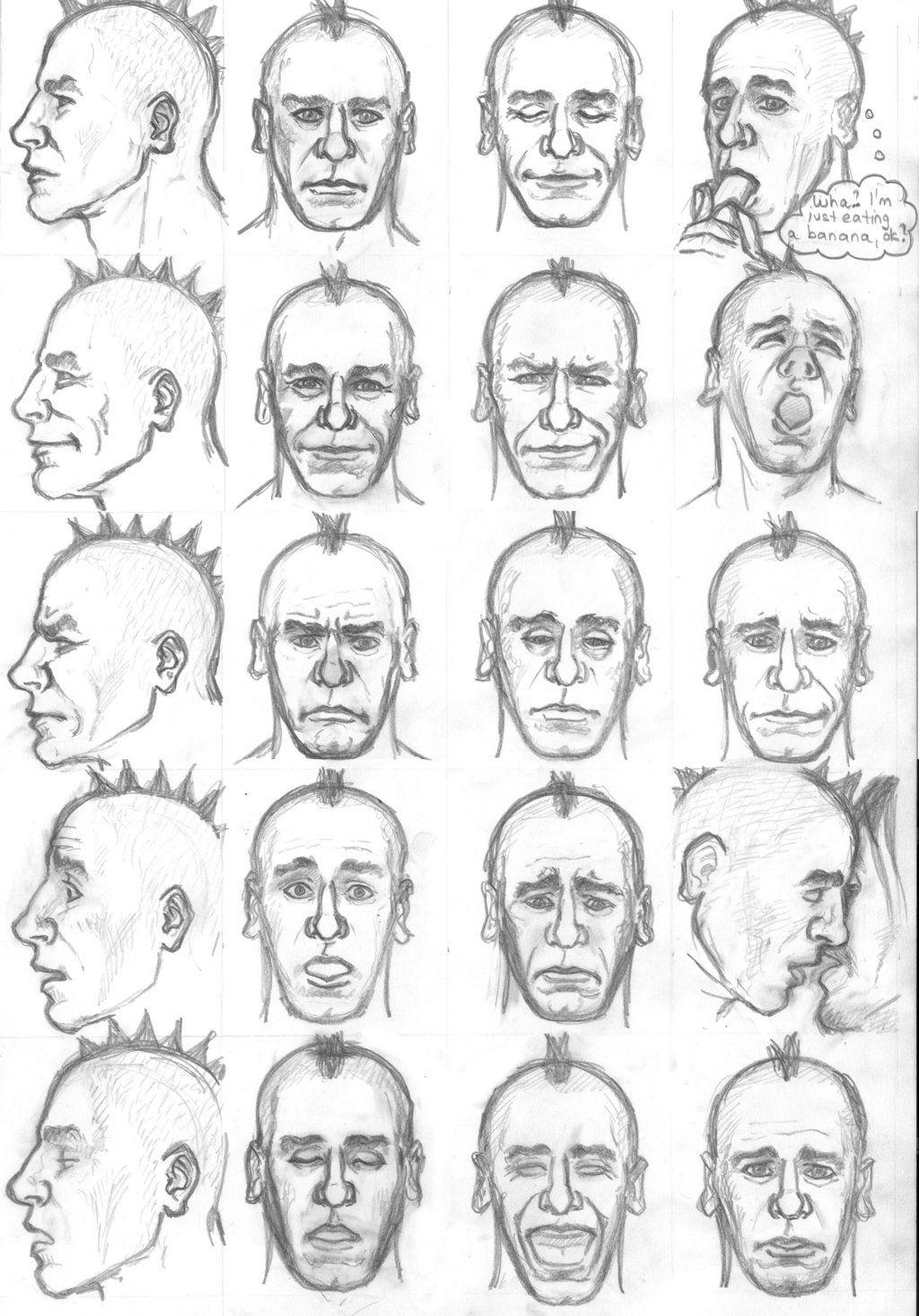 мимика лица рисунок смысл обратить внимание