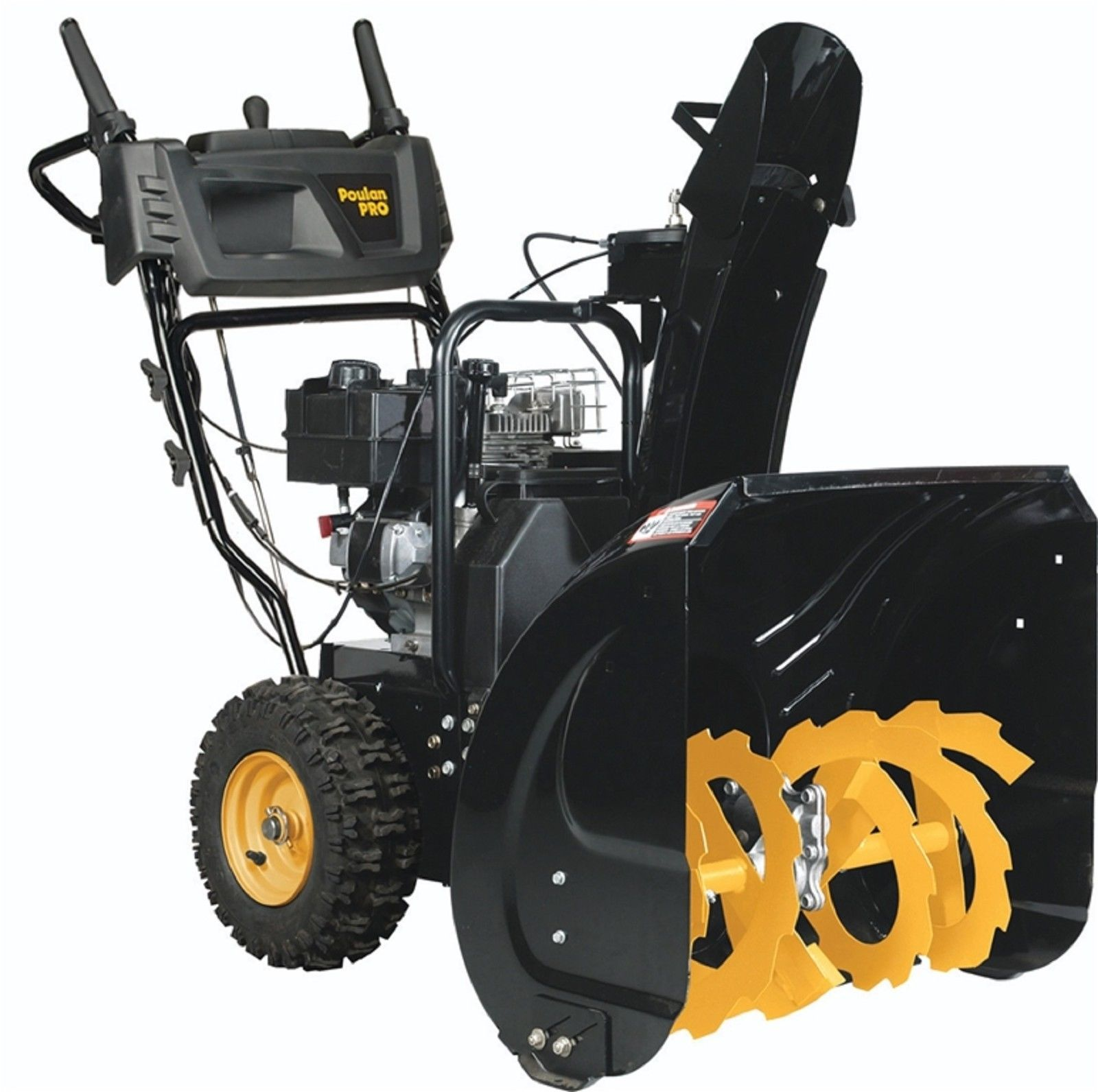 Poulan Pro 24in 179cc Two Stage Snow Thrower Blower Black