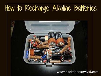 How To Recharge Alkaline Batteries Backdoor Survival Alkaline Battery Survival Prepping Survival