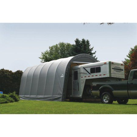 14' x 20' x 12' Round Style Shelter, Gray, Green ...