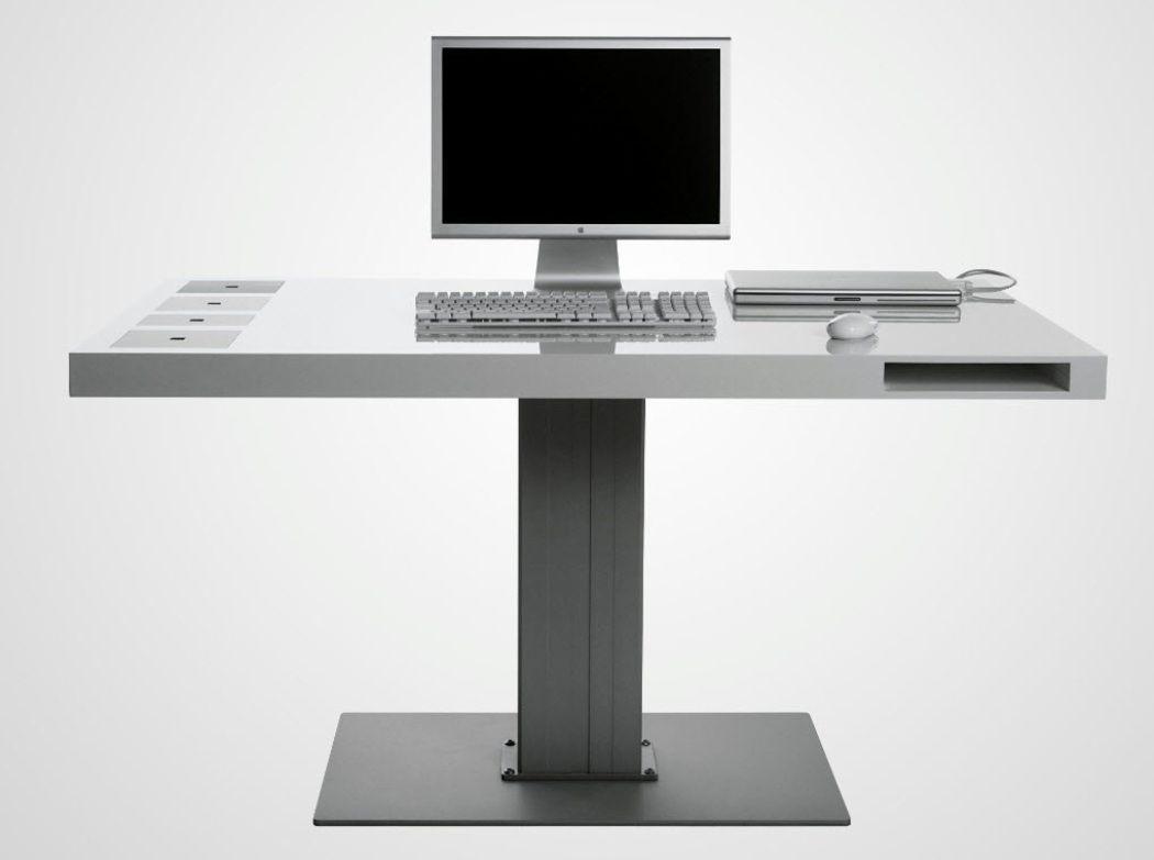 Modern Minimalist Computer Desk Ideas With Slim Design Interiordev Desk Modern Design Contemporary Computer Desk Computer Desk Design