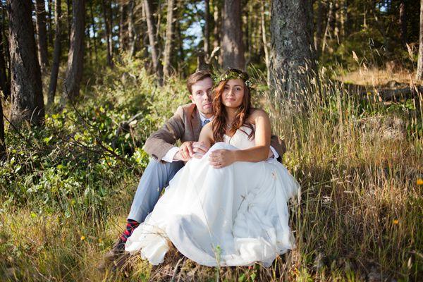Modern Bohemian Washington Wedding
