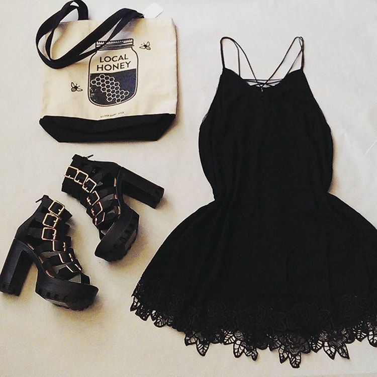 Say yes to the little black dress. #littleblackdress #lunafishboutique #ladyarmour #killerfashion #modelgear #accessories #ladies #women's #boutique #localhoney #style #shop #hothothotpieces #yesdress #crocheted #baby doll #fromclubtocatwalk #high wedge