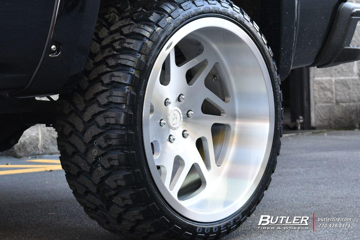 Chevrolet silverado with 24in finestra wheels