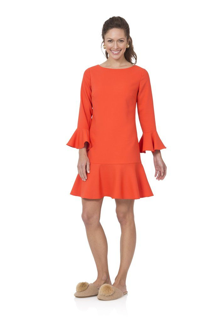 8e0f225936d17 Sail to Sable Flounce Dress in Orange