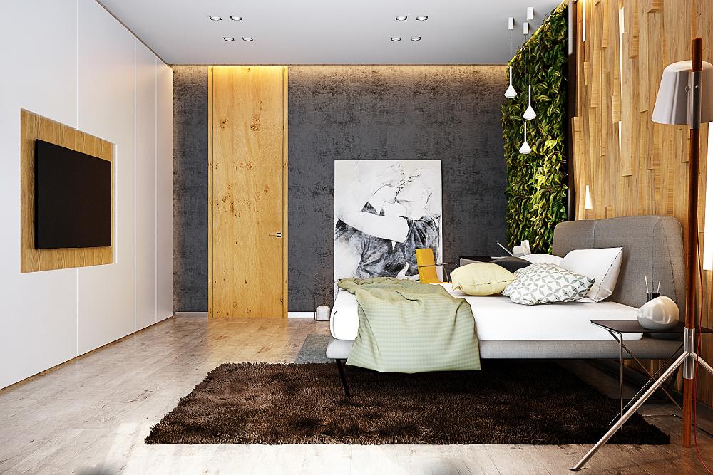 Eco Style Bedroom On Behance Dizajn Interery Spalni Dizajn