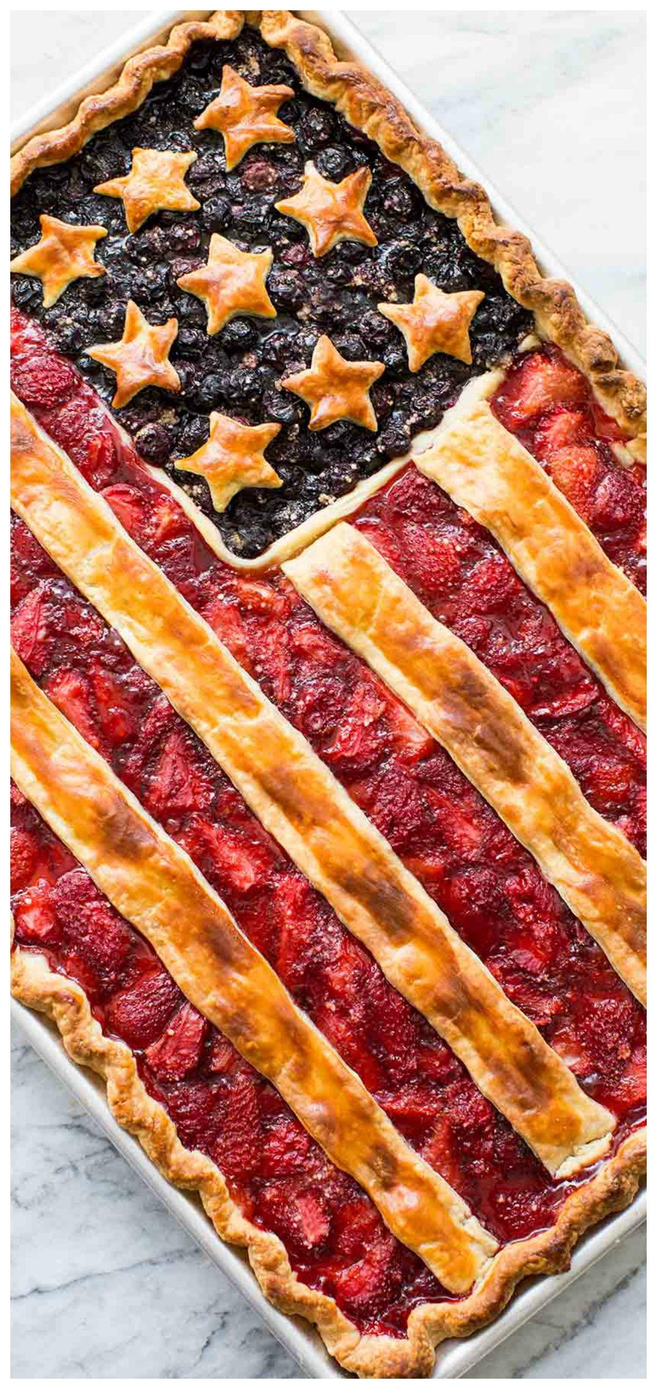 American Flag Pie Recipe