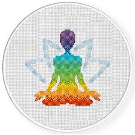 Photo of Chakra Yoga Cross Stitch Pattern