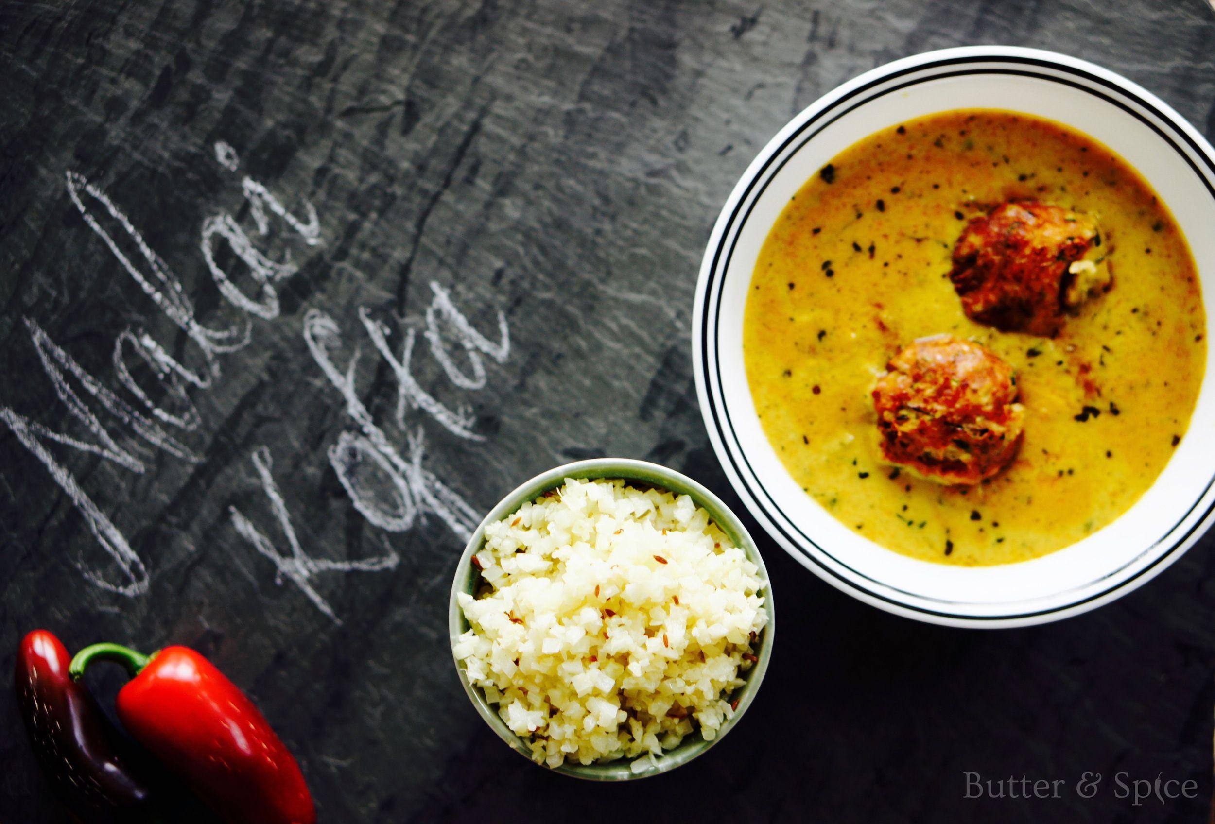 A low carb keto friendly version of Indian Malai Kofta