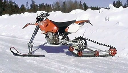 Ktrak Rear Drive Kit And Ski Kit Snowbike Snowmobile Track Driving
